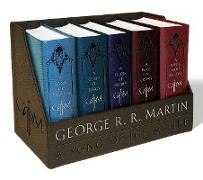 Cover-Bild zu George R. R. Martin's A Game of Thrones Leather-Cloth Boxed Set (Song of Ice and Fire Series) von Martin, George R. R.