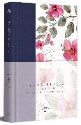 Cover-Bild zu Biblia RVR 1960 letra grande Tapa dura y tela azul con flores tamaño manual / Spanish Bible RVR 1960 Handy Size Large Print Hardcover Cloth with Blue Floral