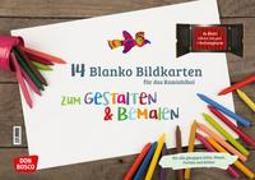 Cover-Bild zu 14 blanko Bildkarten zum Gestalten & Bemalen für das Kamishibai
