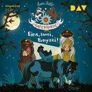 Cover-Bild zu Die Haferhorde - Teil 11: Eins, zwei, Ponyzei! von Kolb, Suza