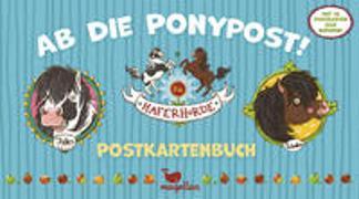 Cover-Bild zu Die Haferhorde - Ab die Ponypost! - Postkartenbuch von Kolb, Suza