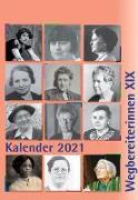 "Cover-Bild zu Notz, Gisela (Hrsg.): Kombi aus ""Kalender 2021 Wegbereiterinnen XIX"" (ISBN 9783945959497) und ""Postkartenset Wegbereiterinnen XIX"" (ISBN 9783945959510)"