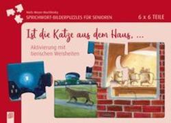 Cover-Bild zu Meyer-Muchlinski, Niels: Sprichwort-Bilderpuzzles für Senioren: Ist die Katze aus dem Haus ?
