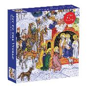 Cover-Bild zu Galison (Geschaffen): Joy to the World Square Boxed 1000 Piece Puzzle