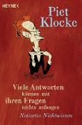 Cover-Bild zu Klocke, Piet: Viele Antworten können mit ihren Fragen nichts anfangen (eBook)