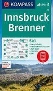 Cover-Bild zu KOMPASS Wanderkarte Innsbruck, Brenner. 1:50'000 von KOMPASS-Karten GmbH (Hrsg.)