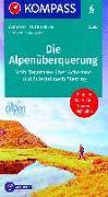 Cover-Bild zu Die Alpenüberquerung. 1:50'000 von KOMPASS-Karten GmbH (Hrsg.)