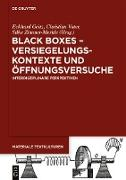 Cover-Bild zu Black Boxes - Versiegelungskontexte und Öffnungsversuche (eBook) von Geitz, Eckhard (Hrsg.)