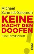 Cover-Bild zu Keine Macht den Doofen von Schmidt-Salomon, Michael