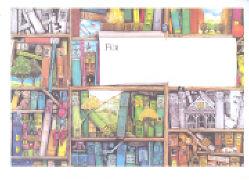 Cover-Bild zu Lappan Umschlag. Für Gutschein, Motiv Bücherwand