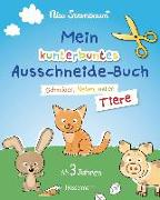 Cover-Bild zu Mein kunterbuntes Ausschneidebuch - Tiere. Ausschneiden, ausmalen, kleben. Ein Bastelbuch ab 3 Jahren von Sternbaum, Nico