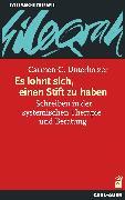 Cover-Bild zu Es lohnt sich, einen Stift zu haben (eBook) von Unterholzer, Carmen C.