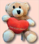 Cover-Bild zu 24638; Teddybär Switzerland mit Herz Escudo de Oro