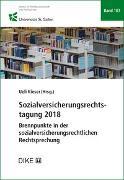Cover-Bild zu Sozialversicherungsrechtstagung 2018 von Kieser, Ueli (Hrsg. Koord.)