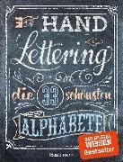 Cover-Bild zu Pautner, Norbert: Handlettering. Die 33 schönsten Alphabete mit Rahmen, Ornamenten und Bordüren