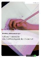 Cover-Bild zu Offener Unterricht: Die Notwendigkeit der Freiarbeit von Altmannsberger, Matthias