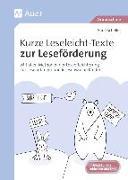 Cover-Bild zu Scheller, Anne: Kurze Leseleicht-Texte zur Leseförderung