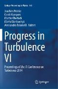 Cover-Bild zu Peinke, Joachim (Hrsg.): Progress in Turbulence VI