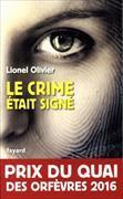 Cover-Bild zu Le crime était signé von Olivier, Lionel