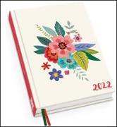 Cover-Bild zu Blumenwiese Taschenkalender 2022 - Blumen-Design - Terminplaner mit Wochenkalendarium - Format 11,3 x 16,3 cm