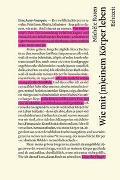 Cover-Bild zu Roten, Michèle: Wie mit (m)einem Körper leben
