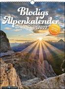 Cover-Bild zu Strauß, Andrea: Blodigs Alpenkalender 2022