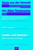 Cover-Bild zu Lieder und Gebete I von Römer, Willem H. Ph.