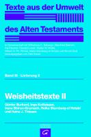 Cover-Bild zu Weisheitstexte II von Günter, Burkard