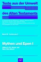 Cover-Bild zu Mythen und Epen I von Edzard, Dietz Otto