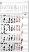 Cover-Bild zu ALPHA EDITION (Hrsg.): 4-Monatskalender Kombi 2022 - Büro-Kalender 33x58,7 cm (geöffnet) - mit Datumsschieber - inkl. Jahresübersicht - Alpha Edition