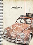Cover-Bild zu Recycling-Leather weekly A5 Beetle beige 2015/2016