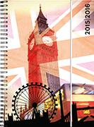 Cover-Bild zu Recycling-Leather weekly A5 London beige 2015/2016