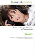 Cover-Bild zu Akustik von Miller, Frederic P. (Hrsg.)