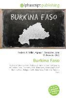 Cover-Bild zu Burkina Faso von Miller, Frederic P. (Hrsg.)