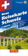 Cover-Bild zu Schweiz Neue Reisekarte Strassenkarte 1:200 000. 1:200'000