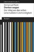 Cover-Bild zu Kant, Immanuel: Denken wagen