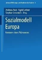 Cover-Bild zu Sozialmodell Europa von Aust, Andreas