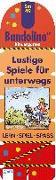 Cover-Bild zu Bandolino Set 49. Lustige Spiele für Unterwegs von Barnhusen, Friederike