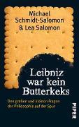 Cover-Bild zu Leibniz war kein Butterkeks von Schmidt-Salomon, Michael