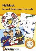 Cover-Bild zu Malblock - Notarzt, Polizei und Feuerwehr (eBook) von Specht, Gisela (Illustr.)