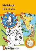 Cover-Bild zu Malblock - Tiere im Zoo (eBook) von Specht, Gisela (Illustr.)