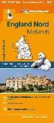 Cover-Bild zu Michelin England Nord, Midlands. Straßen- und Tourismuskarte 1:400.000. 1:400'000
