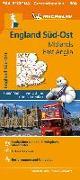 Cover-Bild zu Michelin England Süd-Ost, Midlands, East Anglia. Straßen- und Tourismuskarte 1:400.000. 1:400'000