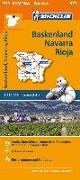 Cover-Bild zu Michelin Baskenland, Navarra, Rioja. Straßen- und Tourismuskarte 1:250.000. 1:250'000