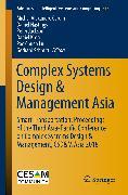 Cover-Bild zu Complex Systems Design & Management Asia (eBook) von Jackson, Peter (Hrsg.)