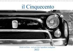 Cover-Bild zu il Cinquecento - Details im Fokus - im Look eines legendären Analogfilms (Wandkalender 2022 DIN A3 quer) von Eisold, Hanns-Peter