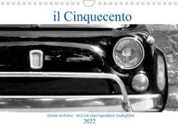Cover-Bild zu il Cinquecento - Details im Fokus - im Look eines legendären Analogfilms (Wandkalender 2022 DIN A4 quer) von Eisold, Hanns-Peter