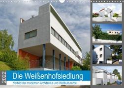 Cover-Bild zu Die Weißenhofsiedlung - Vorbild der modernen Architektur und Weltkulturerbe (Wandkalender 2022 DIN A3 quer) von Eisold, Hanns-Peter