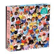 Cover-Bild zu Book Club 1000 Piece Puzzle In a Square Box von Galison (Geschaffen)