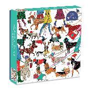 Cover-Bild zu Winter Dogs 500 Piece Puzzle von Galison